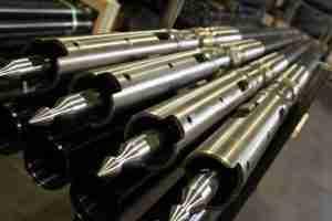 Core barrels on rack